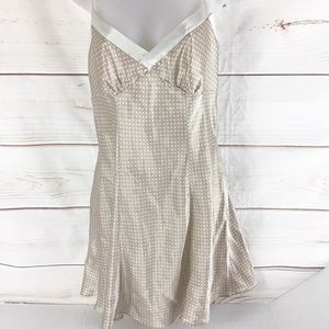 Victoria's Secret Tan With Cream Dots Chemise